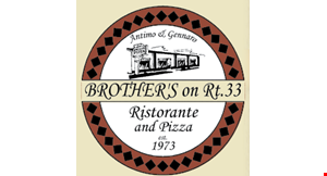 Brother's on Rt. 33 Ristorante and Pizza logo