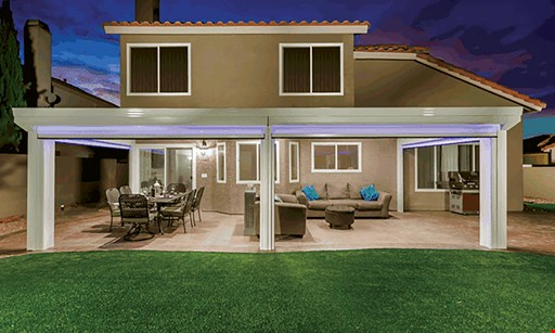 Product image for RKC Construction FREE PATIO COVER with sunroom purchase (10' x 15' Patio Cover).