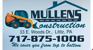 Product image for Mullens Construction $500 OFF any job of $3500 or more