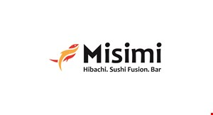 Misimi Hibachi. Sushi Fusion. Bar logo