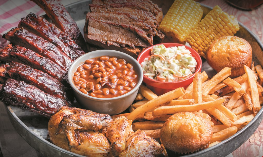 Product image for Famous Dave's Bbq $5 OFF any purchase of $25 or more coupon, valid for take-out & catering.