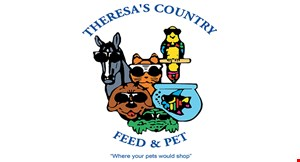 Product image for Theresa's Country Feed & Pet $10 OFF Any Purchase of $50 or more.