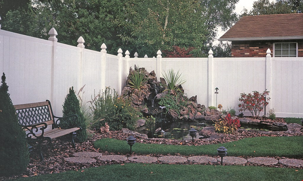Product image for Precision Fence $100 off any serviceof $1000 or more - PVC only