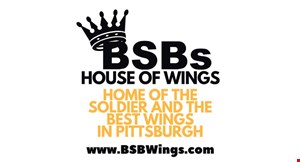 Product image for Big Shot Bob's Bethel Park $9.99 + tax any 1/2 dozen wings or small sandwich with a small fry & drink valid with dine in, take-out or delivery