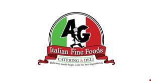 Product image for A&G Italian Fine Food Middlesex 20%off any takeout or curbside pickup.
