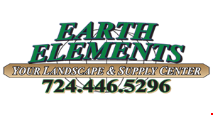 EARTH ELEMENTS YOUR LANDSCAPE & SUPPLY CENTER logo