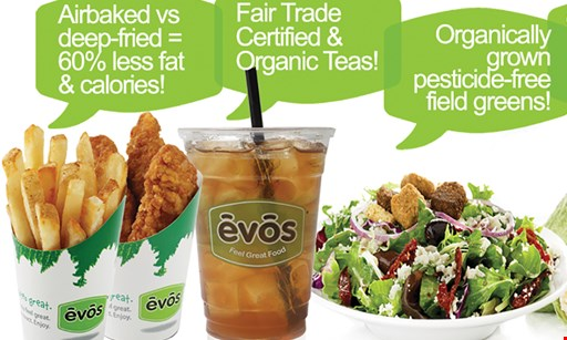 Product image for Evos Carrollwood Free! Airfries & Drink with purchase of a Burger, Wrap,Salad, or Bowl