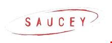 Saucey Pizza logo