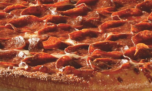 """Product image for Giovan's  Jr. $84.99 28"""" one topping pizza, 2 dozen wings, 1/2 pan baked mostacacioli $101.50 value."""