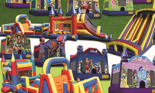 Product image for Jolly Bouncers $179.99 4-in-1 Jumbo with 2 Tables & 16 Chairs