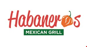 Product image for Habanero's Mexican Grill $10 off any purchase