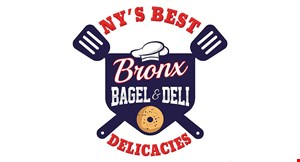Product image for Bronx Bagel & Deli 3 FREE Bagels when you buy 6 bagels.