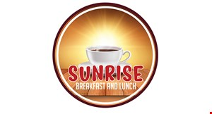 Product image for Sunrise Breakfast & Lunch Restaurant $10 OFF any purchase of $50 or more.