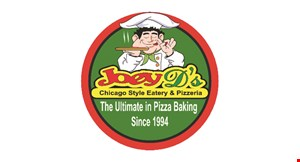 "Product image for Joey D's Sarasota - West $2 off medium 14"" pizza. Valid for pick-up or delivery. $3 off large 16"" pizza. Valid for pick-up or delivery."