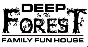 Deep In The Forest Family Fun House logo