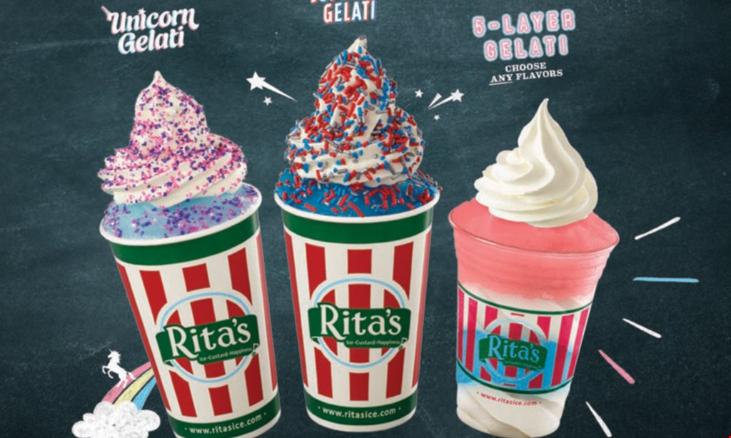 Product image for Rita's FREE BUY 2 QUARTS, GET 1 FREE ON FRIDAYS.