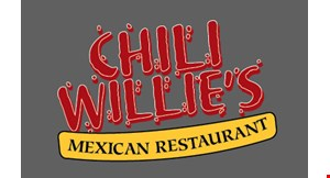 Product image for Chili Willie's Mexican Restaurant 15% OFF any catering order.