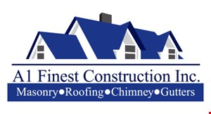 Product image for A! Finest Construction Inc $350 Off Any Chimney, Roof or Step Repair of $1,500 Or More.