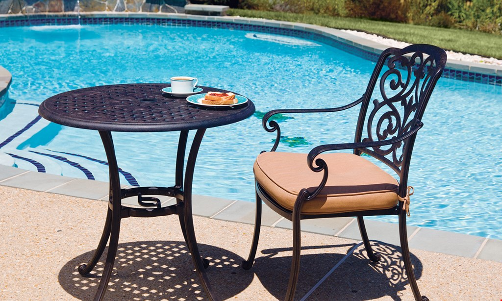 Product image for Patio Guys Spring Special BUY 2 CUSTOM SEAT CUSHIONS, GET 2 FREE. WITH ANY 5-PIECE REFINISHING ORDER.