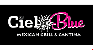 Product image for Cielo Blue Mexican Grill & Cantina - Smyrna $10 ofFany purchase of $40 or more.