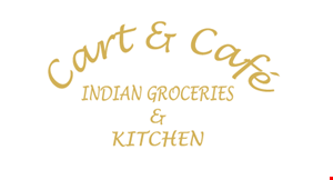 Product image for Cart & Cafe Indian Groceries & Kitchen $10 For $20 Worth Of Indian Cuisine