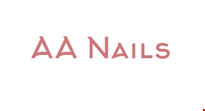 Product image for AA Nails $25 OFF Any Nails & Pedicure $100 or more.