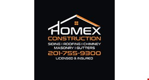 Product image for Homex Construction Llc $100 Off any roof or chimney repair