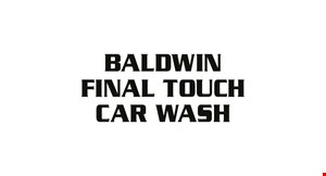 Product image for Baldwin Final Touch Car Wash $19.49 For Diamond Wash (Reg. $38.99)