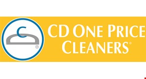Product image for CD One Price Cleaners 4 DRY CLEANED GARMENTS FOR $5