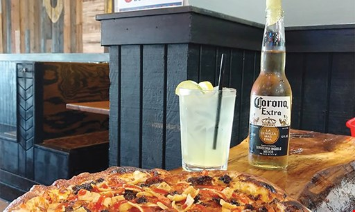 Product image for Mac's Pizza Pub free appetizer with the purchase of 2 entrees or large pizza and 2 drinks.