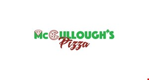 Product image for McCullough's Pizza 12.99 12-cut 1-topping pizza.