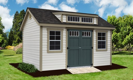 Product image for Fox Country Sheds $100 off any shed 8x12 or larger, any size garage, or any playset package