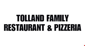 TOLLAND FAMILY RESTAURANT & Pizzeria logo