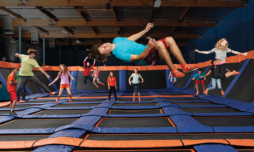 Product image for Sky Zone Boston Heights $12 90 minute jump ticket