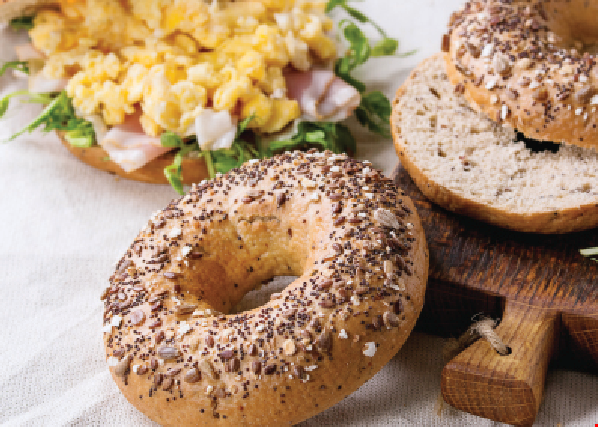 Product image for NYC Bagels $3.95 Bagel with Cream Cheese & Coffee other toppings extra