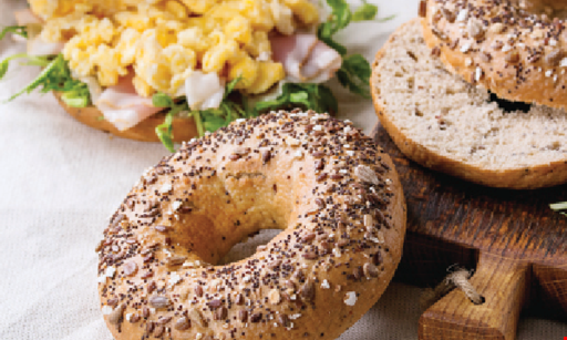 Product image for NYC Bagels $3.95 Bagel with Cream Cheese & Coffeeother toppings extra