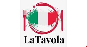 Product image for La Tavola Ristorante Italiano $10 off any purchase of $50 or more.