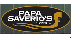 """Product image for Papa Saverio's Pizzeria $25.99 2 large 16"""" thin crust pizzas with 1 topping each."""