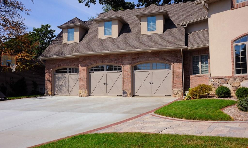 Product image for Clegg Brothers $50 OFF purchase & installation of combination garage door opener & garage door one offer per household.