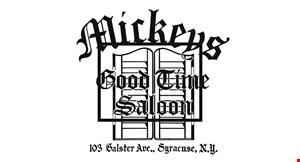 Mickeys Good Time Saloon logo