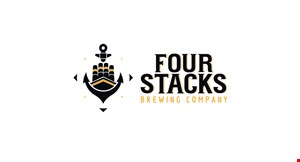 Product image for Four Stacks Brewing Company $5 off any purchase of $25 or more.
