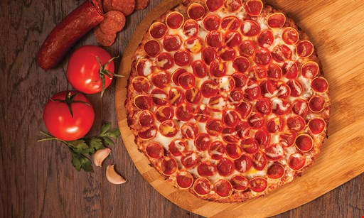 Product image for Mountain Mike's Pizza Lake Forest $26.99 LARGE 2-topping PIZZA, Small garlic sticks & 2-liter soda