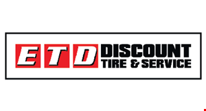 Product image for ETD Discount Tire & Service $10 off any synthetic oil change. $10 any Valvoline Synthetic Blend or Full Synthetic Oil Change. $19