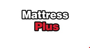 Product image for Mattress Plus $100 off any mattress purchase of $499 or more.