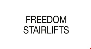 Product image for Freedom Stairlifts $500 off any curved lift.