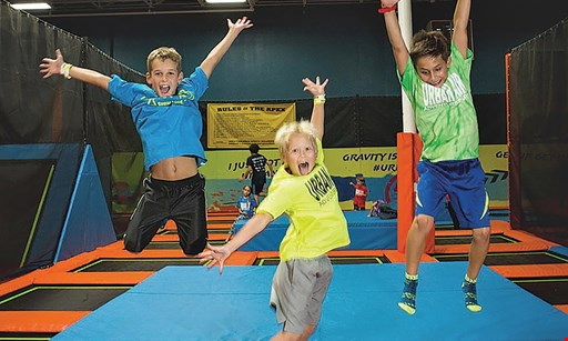 Product image for Urban Air Trampoline Park FREE skydive upgrade buy a Platinum Package and get a Skydive Upgrade for freeMon.-Tues. only