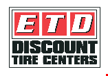 Product image for ETD Discount Tire & Service $100 Off Promotion with purchase of 4 select Bridgestone or General Tires