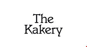 Product image for The Kakery $10 Off any purchase of $50 or more.