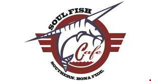 Product image for Soul Fish Wolfchase 10% off any two entrees dine in only alcohol not included.