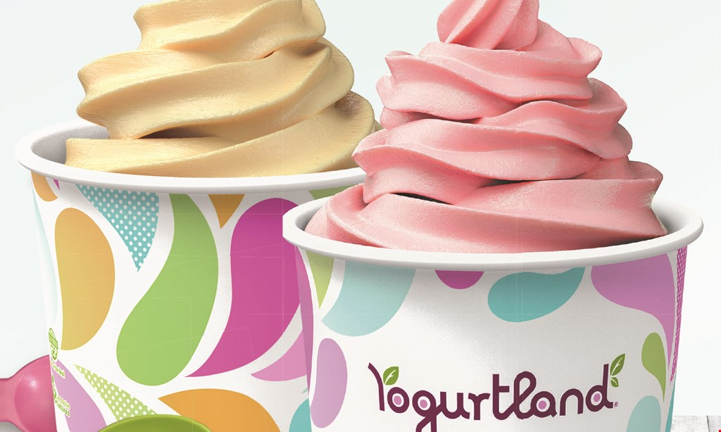 Product image for Yogurtland - Plaza Mexico Purchase a yogurt and get a yogurt of equal or lesser value for free..